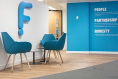 FluidOne Office by Interaction, London – UK Office Wall Design, Office Mural, Office Signage, Office Branding, Workspace Design, Office Setup, Office Wall Decor, Office Walls, Office Graphics