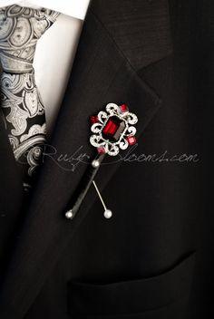 Lady Jewelry Antqiue VIOLON Cristal Automne Vêtements Accessoires Broche Pin