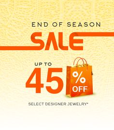 end of season gold jewelry sale