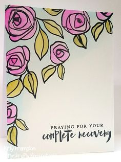 Made for My Mums Craft Shop using Altenew Bamboo Rose Stamps. Color Me Mine, Drawing Lessons For Kids, Altenew Cards, Craftwork Cards, Paint Cards, Get Well Cards, Watercolor Cards, Art Sketchbook, Fabric Painting