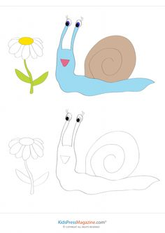 Coloring Match – Snail  #focus #skills #increase #attention #build #brain #power