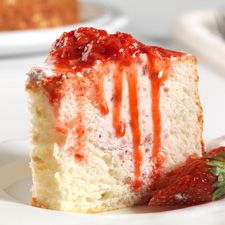 Strawberry-Filled Angel Food Cake – classic angel food cake stuffed with creamy strawberry mousse.