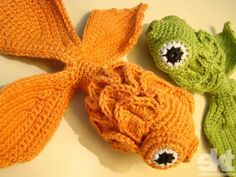 "-^^- LIVRE COMO padrão --- crochet um peixe --- ""Free pattern for crochet fish.... translate, use charts....easy enough."""