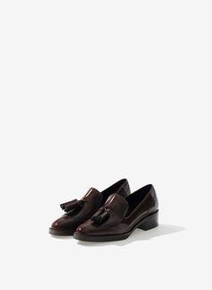 Uterqüe Russia Product Page - Footwear - See all - Tassel slippers - 10490