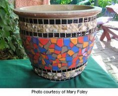 How to make mosaic flower pots