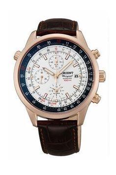 Orient CTD09005W analog chronograph wristwatch, me likey.