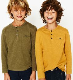 New Collection Online - - Button neck top - Available in more colours Boy Models, Child Models, Fashion Kids, Fashion Dolls, Beautiful Children, Beautiful Boys, Cute Boys, Kids Boys, Boys Long Hairstyles