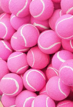 omg! bright pink tennis balls?! perfect for a pink palace!!!