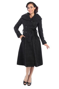 Aida Zak Barbara Coat 0 50s Rockabilly, Rockabilly Outfits, Best Dress Shoes, Pin Up, Body Warmer, Summer Sale, Elegant, Mantel, Me Too Shoes