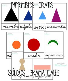 Montessori, sólidos gramaticales, frases, imprimibles gratis, imprimibles Montessori Frases Montessori, Jolly Phonics, Read Aloud, Little People, Childcare, Free Printables, Homeschool, Writing, Education