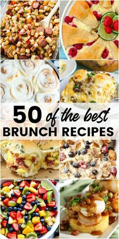 Sleep in and grab your favorite cocktail! Your morning is about to be amazing with 50 of the Best Brunch Recipes for a lazy weekend meal that'll leave you happy and satisfied! #BreadBoozeBacon #breakfast #brunch #recipes #easter #mothersday #christmas #breakfastcasserole #pastry #eggs via @breadboozebacon