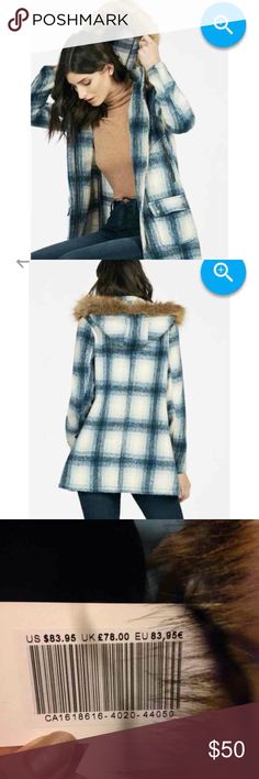Parka This is a blue plaid synthetic fur parka coat. The size is XL I usually wear a medium and large but due to reviews on the site I got ot few sizes up. It's absolutely perfect!!! I couldn't wait to receive this but the weather here in Georgia never stays the same and it's not cold enough to be wearing. It's hood detaches also. The tags are still attached. 83.95 was the original price and well worth it. JustFab Jackets & Coats Trench Coats