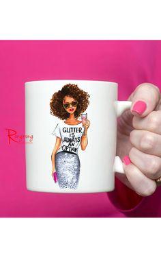Fashionista Coffee Mug Chic Coffee by RongrongIllustration on Etsy  www.rongrongillustration.etsy.com