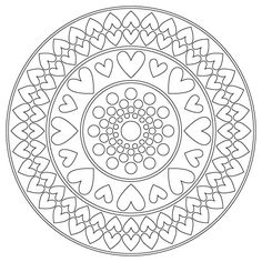 Mandala ☯☮ Color It Yourself! ☮