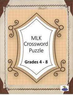 Cross word based on Dr. Martin Luther King Life, Opposites Worksheet, Printable Crossword Puzzles, English Worksheets For Kids, Picture Blog, Printable Pictures, English Writing Skills, Puzzles For Kids, King Jr