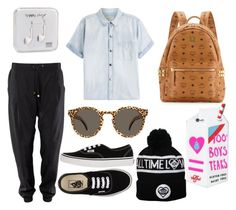 """""""#618"""" by isafl ❤ liked on Polyvore featuring beauty, Happy Plugs, MCM, Vans, Current/Elliott, Illesteva and Valfré"""