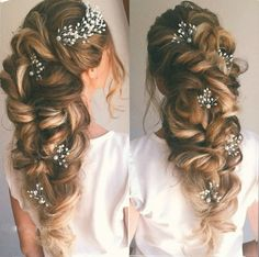 Wedding Updo Hairstyles for Long Hair from Ulyana ❤ See more: www.dee… Wedding Updo Hairstyles for Long Hair from Ulyana ❤ See more: www. Long Hair Wedding Updos, Wedding Hairstyles For Long Hair, Wedding Hair And Makeup, Bride Hairstyles, Hair Makeup, Prom Hair, Hairstyle Ideas, Hairstyle Wedding, Up Hairdos