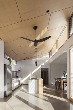 Kitchen layout ideas with pantry interior design 24 ideas Kitchen Interior, House Design, White Wood Kitchens, Mid Century House, Ceiling Design, Pantry Interior, Melbourne House, Plywood Interior, Kitchen Design