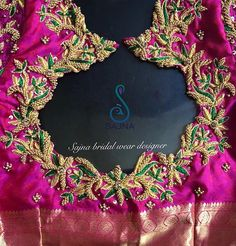 To get your outfit customized visit us at Chennai, Vadapalani or call/msg us at / for appointments, online order… Cutwork Blouse Designs, Kids Blouse Designs, Wedding Saree Blouse Designs, Half Saree Designs, Maggam Work Designs, Stylish Blouse Design, Designer Blouse Patterns, Embroidery Designs, Hand Embroidery