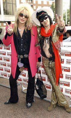 Hanoi Rocksin Michael Monroe ja Andy McCoy vuonna 2003.