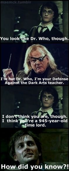 I dare you to watch Doctor Who and then Harry Potter Goblet of Fire and then see what you think.