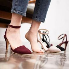Faux Suede Pointy-Toe Ankle-Strap Pumps from #YesStyle <3 GUMZZI YesStyle.com