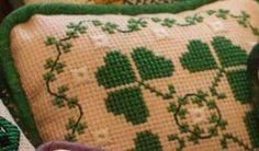 Fancy Shamrocks - The Sweetheart Tree St Patrick's Cross, St Patricks Day, Cross Stitch Patterns, Needlework, Stitching, Fancy, Decorating, Sewing, Knitting