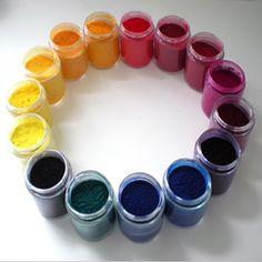 Organic dry pigments, Kama Pigments, Montreal, Quebec, Canada.