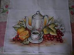 Resultado de imagem para panos de copa pintados