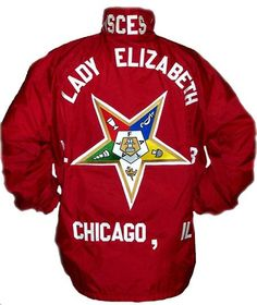 Order of Eastern Jacket. No OES letters. Chapter and City called out.