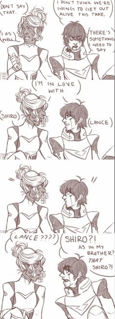 Keith and Allura THIS BETTER BE WHAT THEY MEAN BY THEM BONDING IN S2