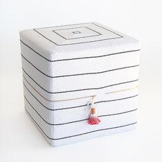 Ottoman Cube - Toulouse, Onyx (small) – Tonic Living