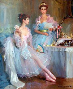 Old Fashioned BalletCross stitch pattern in PDF by Fairygarden25