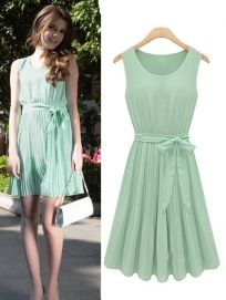 Sweet Lace Floral Sleeveless Patchwork Flounced Pearl Embellished Neck Dress - BuyTrends.com