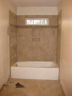 Tile Shower and Floor by LauraBaker, via Flickr