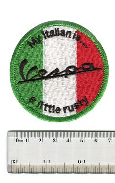 Vintage Style Vespa Patch Badge My Italian is a by smARTpatches
