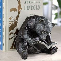 Reading Bear Bookend from Levinger