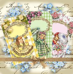 Vintage style gift tags Digital Collage Sheet by 1stChoiceShop