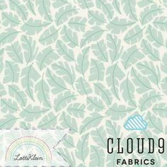 Bio-Stoffe - Bio Stoff Cloud9 Park Life Leafscape Turquoise - ein Designerstück von LottiKlein bei DaWanda
