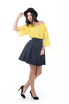 Yellow romanian blouse! #chic #100%handmade