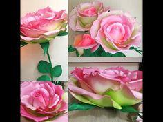 Тонировка лепестка. Изолон. ( Эспиранс) - YouTube Giant Flowers, Clay Flowers, Silk Flowers, Paper Flowers, Flower Tutorial, Flower Making, Diy Projects, Caftans, Rose