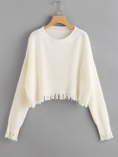 Raw Cut Dolman Sleeve Jumper