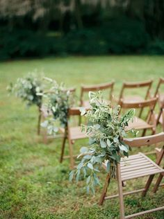 outdoor wedding aisle decoration ideas with greenery