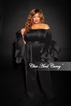 b78c09f0316 Final Sale Plus Size One Sided Off the Shoulder Ruffle Dress in Hot Pink in  2019