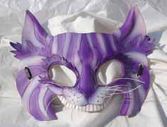 Cheshire Cat Leather Alice in Wonderland Cosplay Mask