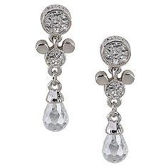Swarovski Crystal Drop Mickey Mouse Earrings by Arribas