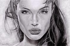 ❋ Faces of Woman ❋ // ANGELINA JOLIE by paulinamarin