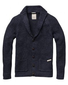 scotch & soda - long sleeved knitted cardigan