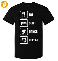Eat Sleep Dance Repeat White Graphic Design Men's T-Shirt Large (*Partner-Link)