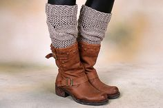 Cable Knitted Leg Warmers Knitted Women's Leg by viafashion